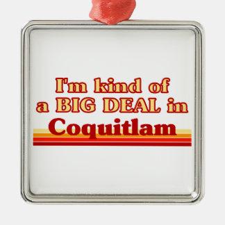 Je suis un peu une affaire dans Coquitlam Ornement Carré Argenté