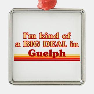 Je suis un peu une affaire dans Guelph Ornement Carré Argenté