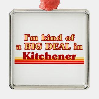 Je suis un peu une affaire dans Kitchener Ornement Carré Argenté