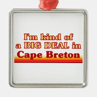 Je suis un peu une affaire dans le Breton de cap Ornement Carré Argenté