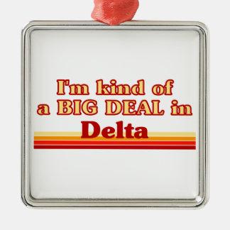 Je suis un peu une affaire dans le delta ornement carré argenté