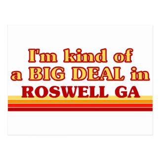 Je suis un peu une AFFAIRE dans Roswell Carte Postale