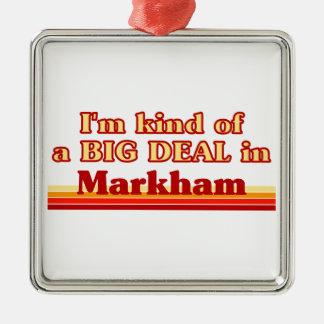 Je suis un peu une affaire en Markham Ornement Carré Argenté