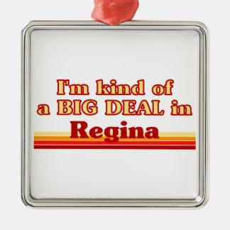 Je suis un peu une affaire en Regina Ornement Carré Argenté