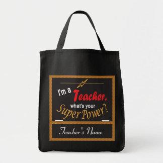 Je suis un professeur, ce qui est la votre sac en toile