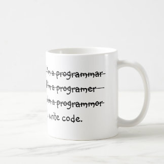 Je suis un programmar j'écris le code mug