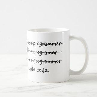 Je suis un programmar j'écris le code mug blanc