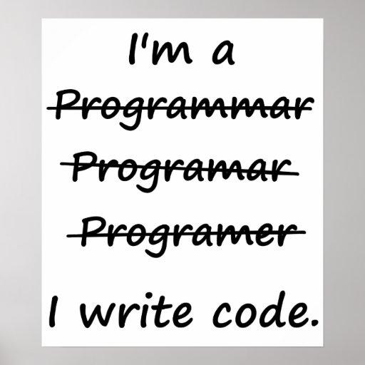 Je suis un programmeur que j'écris le correcteur o affiche