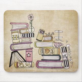 je suis un rat de bibliothèque tapis de souris