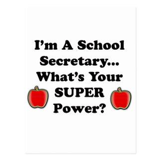 Je suis un secrétaire d'école carte postale