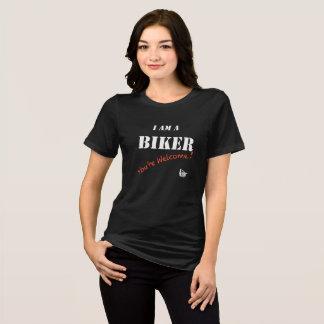 Je suis un T-shirt de dames de cycliste