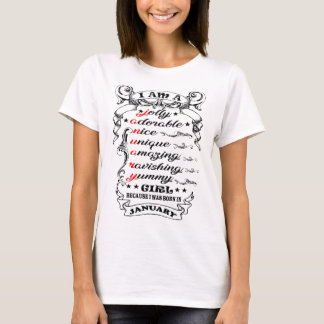 Je suis un T-shirt de femme de janvier