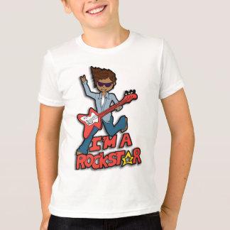 Je suis un T-shirt rockstar de garçons de cheveux