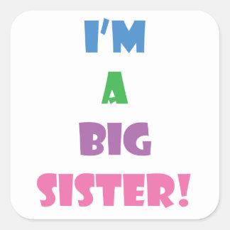 Je suis un texte de grande soeur sticker carré