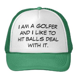 Je suis une affaire de golfeur avec elle casquette trucker