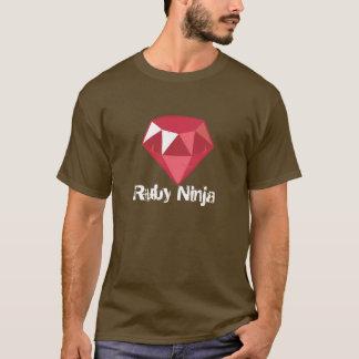 Je suis une chemise rouge de rouge de Ninja T-shirt