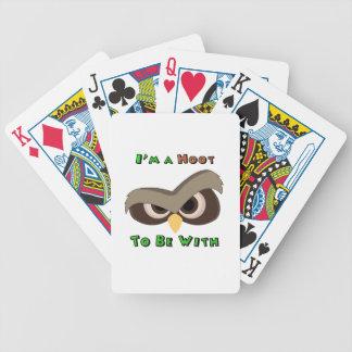 Je suis une copie fâchée de visage de hibou de jeu de cartes