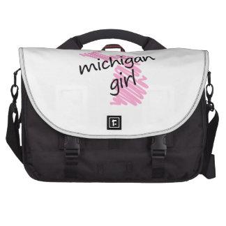 Je suis une fille du Michigan Sacoches Ordinateur Portable