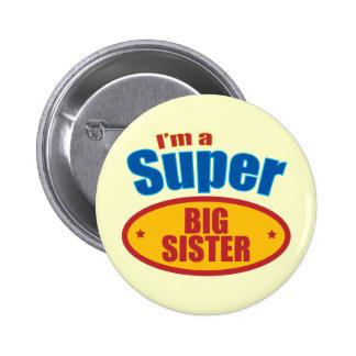 Je suis une grande soeur superbe badge rond 5 cm