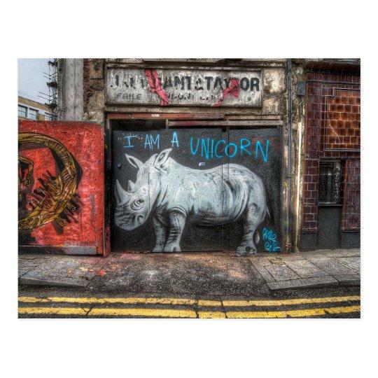 Je suis une licorne, graffiti de Shoreditch Cartes Postales