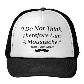 Je suis une moustache casquette trucker