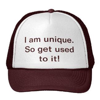 """""""Je suis unique. Habituez-vous ainsi le !"""" Chapeau Casquette De Camionneur"""