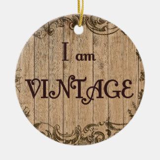 Je suis vintage ornement rond en céramique