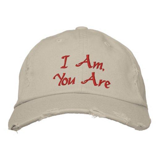 Je suis, vous suis - casquette de baseball