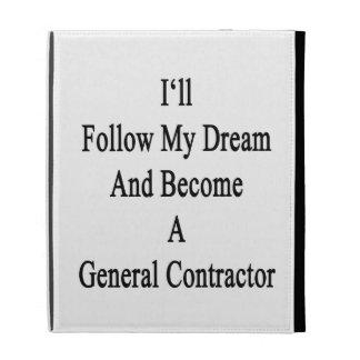 Je suivrai mon rêve et deviendrai un contrat étuis iPad folio