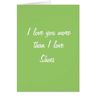 Je t aime plus que l amour d I chausse la carte