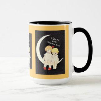 Je t'aime à la lune et au dos mugs