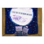 Je t'aime à la lune et aux cartes pour notes