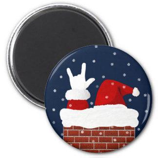Je t'aime aimant de Noël de Handshape ASL Père