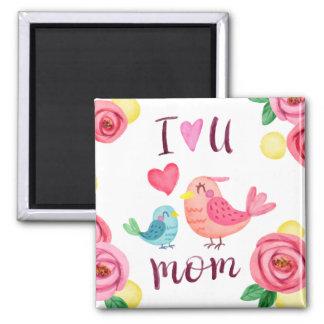 Je t'aime aimant du jour de mère de maman |