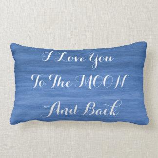 Je t'aime au coussin lombaire de lune et de dos