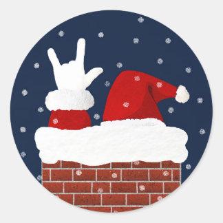 Je t'aime autocollant de Noël de Handshape ASL