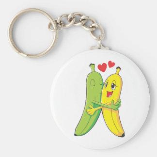Je t'aime bananes porte-clé
