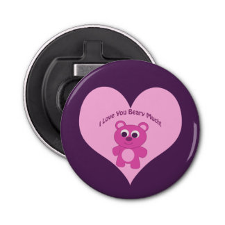 Je t'aime Beary beaucoup ! Ours rose