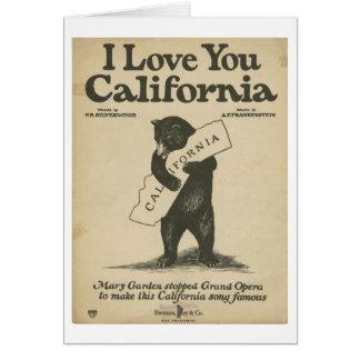 Je t'aime carte de la Californie