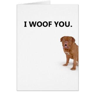 Je t'aime carte de voeux de chien