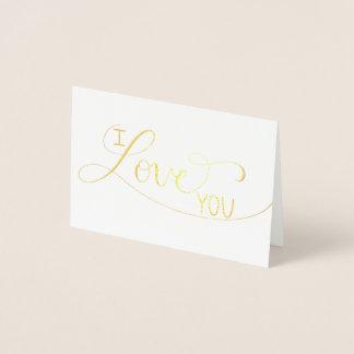"""""""Je t'aime"""" carte de voeux en lettres contrecarrée"""