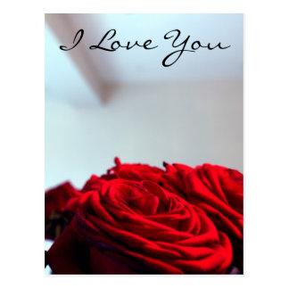 Je t'aime carte postale