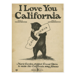 Je t'aime carte postale de la Californie