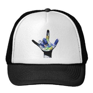 Je t'aime chapeau de la terre de planète casquettes de camionneur