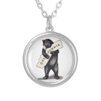 Je t'aime étreinte d'ours de la Californie Pendentif Rond