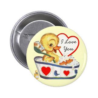 Je t'aime goupilles vintages de Valentine Badge