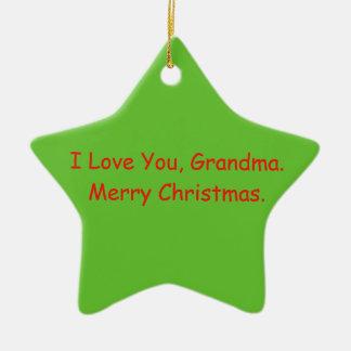 """""""Je t'aime, grand-maman. Ornement de Joyeux Noël"""""""