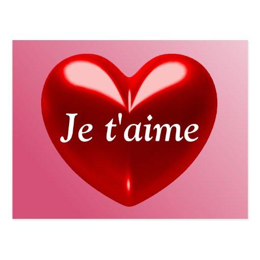 JE T'AIME - JE T'AIME (Français) Cartes Postales