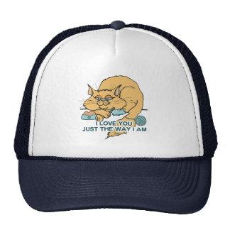 Je t'aime juste la manière je suis chat casquette trucker