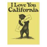 Je t'aime la Californie Cartes Postales